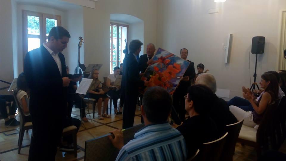 Prejem Občinskega priznanja Občine Vipava